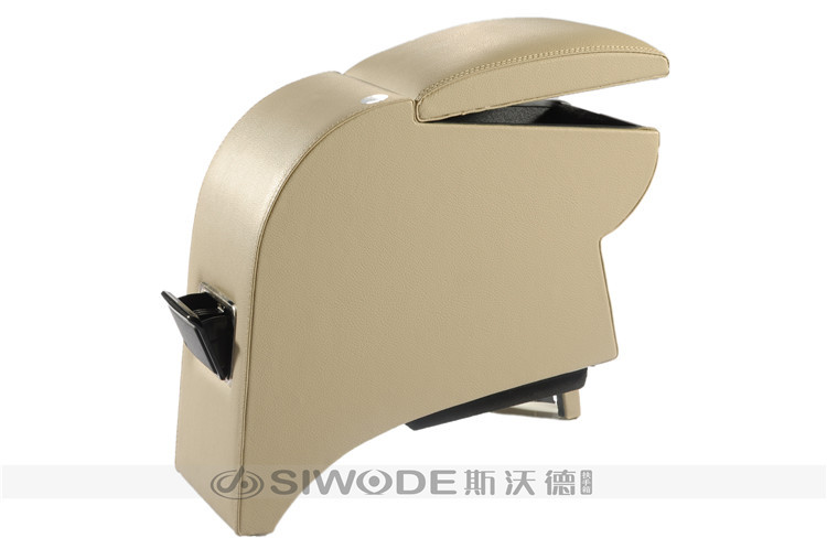 ФОТО special Automobile qq6 free punch dedicated central armrest box wooden leather hand box custoomized for any car