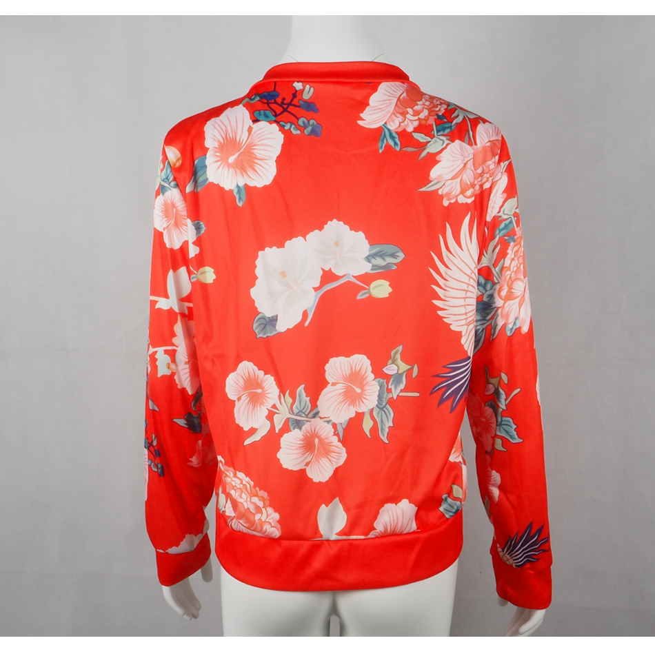 HTB1Fh7gSwHqK1RjSZFgq6y7JXXao Bomber Jacket Women Floral Print Plus Size Coat Spring Summer Ladies Casual Classic O-Neck Long Sleeve Outwears Basic Coats