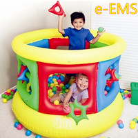 Inflatable Bouncer Castle Trampoline Children Inflatable Toy Sea Ball Pool Naughty Fort Parent child Game Playground G2156