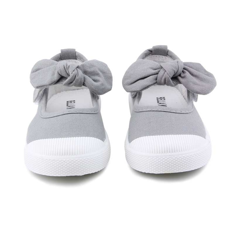 Baby Girl Shoes Canvas Casual Kids Shoes With Bowtie Bow-knot Solid Candy Color Girls Sneakers Children Soft Shoes 21-30 14