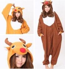 Diseñador Anime Elk Animal homewear ropa de Dormir Polar Cosplay Pijamas Adulto Unisex Mujer Hombre alces traje