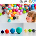 50pcs Silicone Teething Beads 15mm Colorful Baby Teether Silicon dentist Bead Safety Kids Teething Chew Diy Necklace For Mom