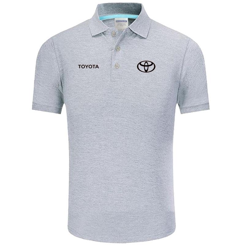 High quality logo crocodil Toyota logo   Polo   classic brand Men   Polo   Shirt Men Casual solid Short Sleeve cotton   polos