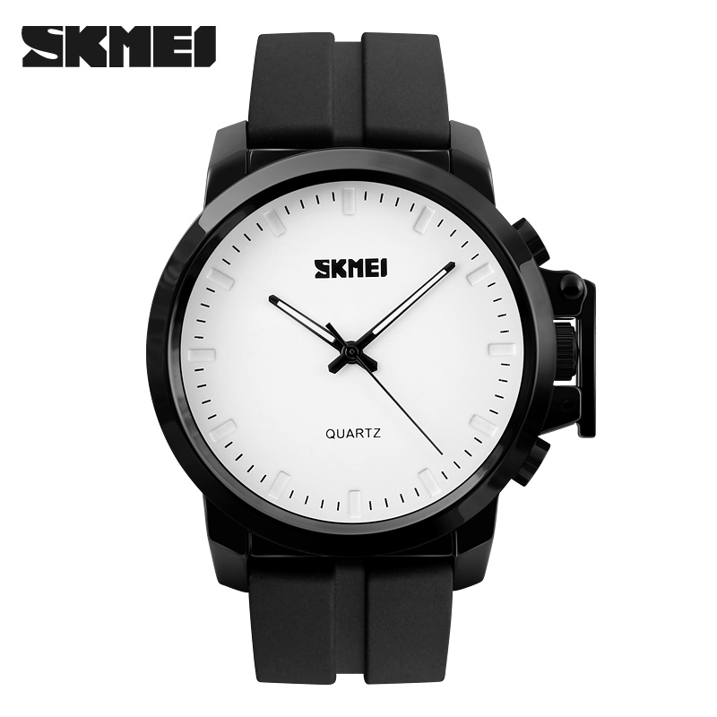 men quartz watches SKEMI brand fashion casual rubber watches big dial sport wristwatches 2017 gift leather clock 30M waterproof