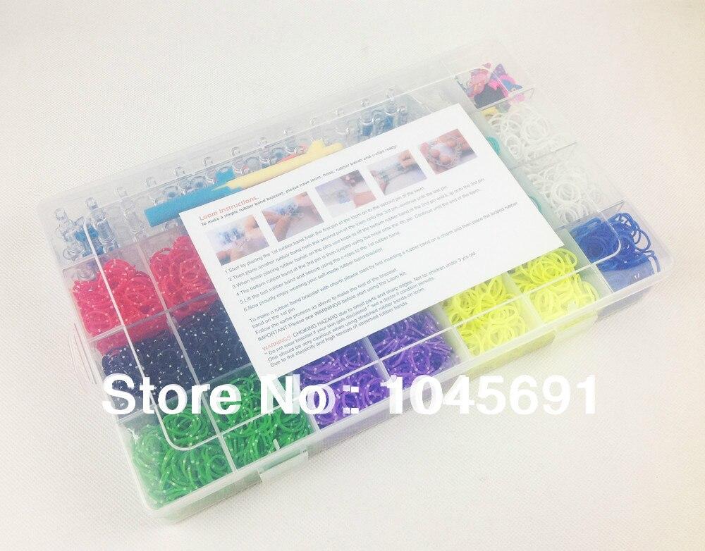 Crazy Loom Bands Complete Bundle Kitstorage Kit 4200 Bands120 S