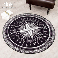 CIGI Durable Round Floor Mat Home Hall Carpet Living Room Kitchen Bathroom Bedroom Anti Skid Mat 6MM Thick Rugs Table Chair Mat