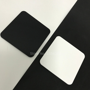 Opaque Black White 1 Piece 1/8 inch Thick Laser Cutting Acrylic Sheet Plexiglass Cast Square Panel With Round Corner