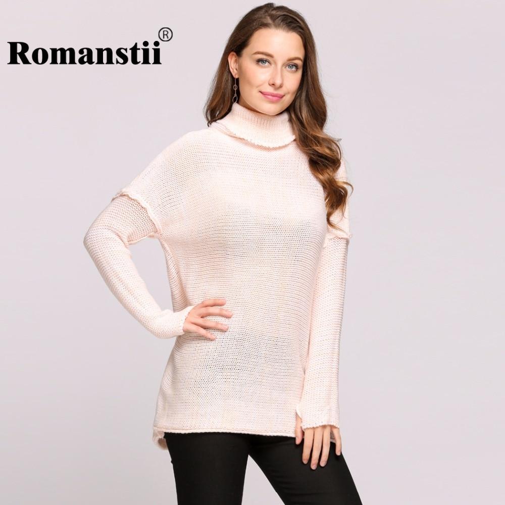 Romanstii Turtleneck Sweater Women Autumn Winter Female Korean Lady Warm Jumper  Pullover Long Sleeve Knitted Sweaters Pull Femme-in Pullovers from Women s  ... 2fa9daa1e