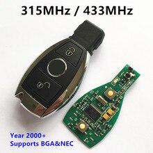 Coche Llave Inteligente para Mercedes BENZ 2000 + 315 MHz 433 MHz Soporte NEC y BGA 2 Botones Sin Llave remoto Clave