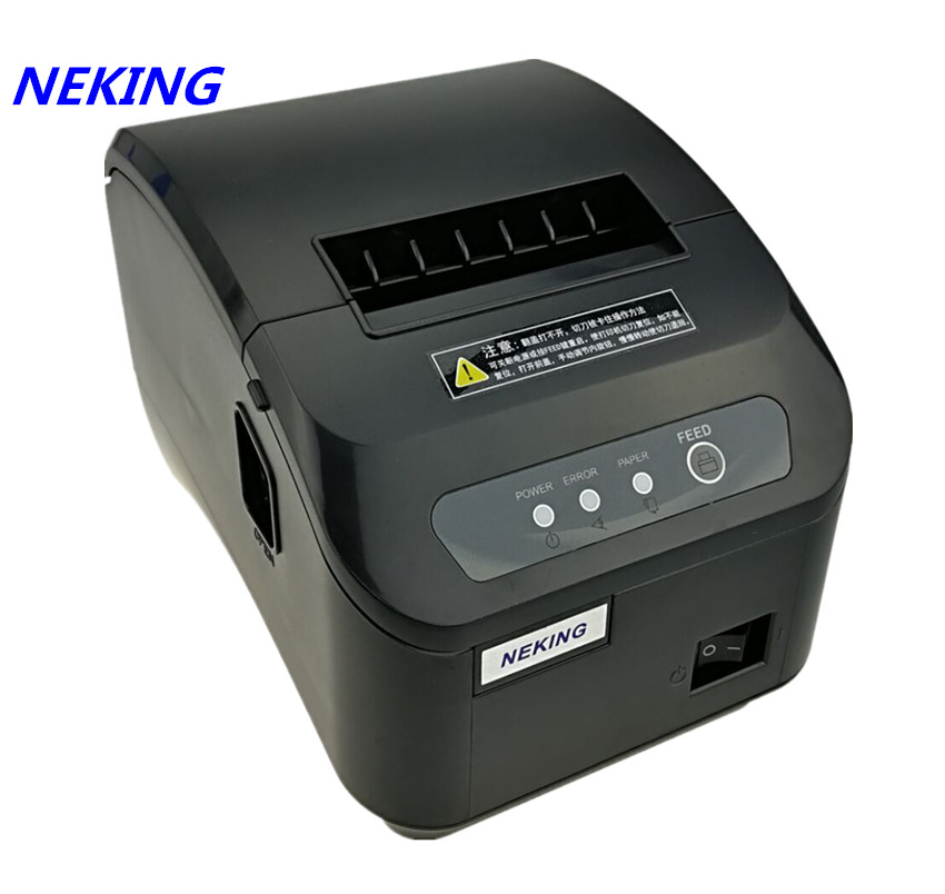 brand new 80mm thermal receipt Small ticket barcode printer High quality pos printer automatic cutting machine Print fast label sticker receipt printer barcode qr code small ticket bill pos printer support 20 80mm width print speed very fast