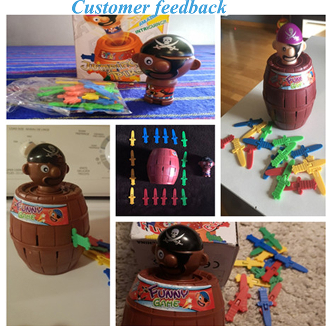 Kids Funny Gadget Pirate Barrel Game Toys for Children Lucky Stab Pop Up Toy 1