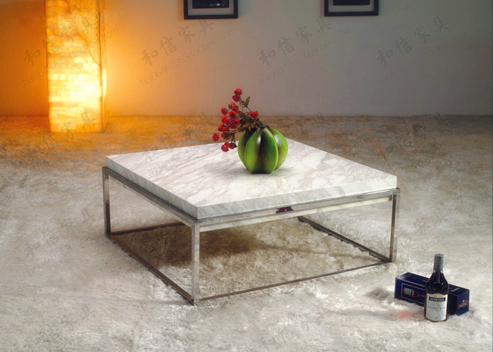 Post Modern Minimalist Ikea Square Marble Coffee Table Sofa Table - Post modern coffee table