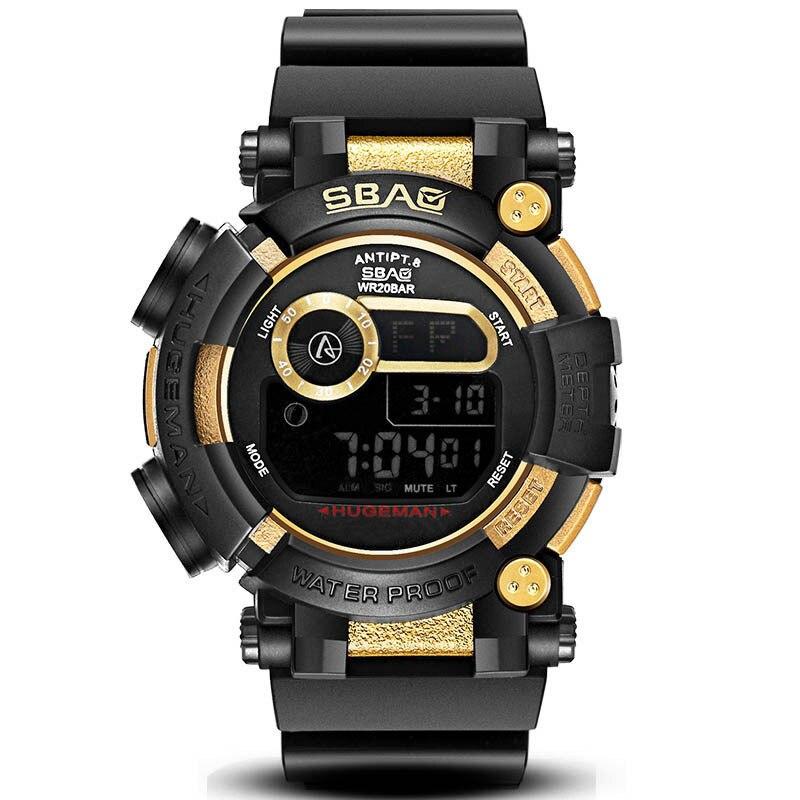 Montre pour hommes militaire sport étanche montres Pu Double spectacle numérique montres horloge montre livraison gratuite vente