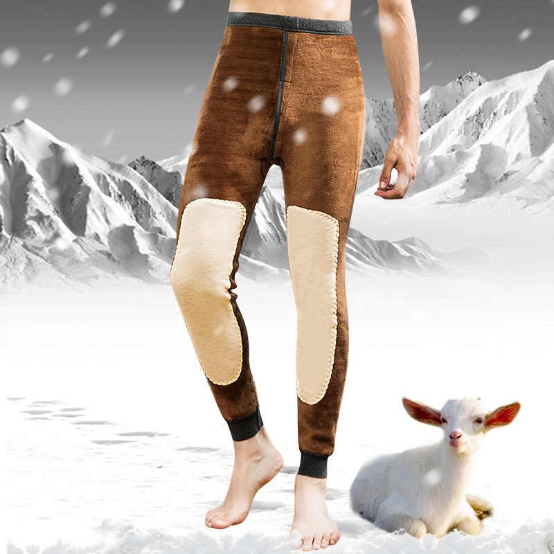 ad134950e80b03 Feilibin Winter Warm Mens Warm Leggings Tight Men's Long Johns Plus Size  Warm Underwear Elastic Tights