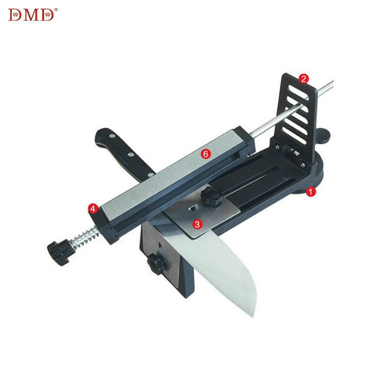 DMD Fixed Angle System Knife Sharpener Household Grinding Scissors Sharpening Saws Grindstone With Three Diamond Stone H2