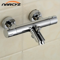 Wall Mounted Two Handle Thermostatic Shower mixer Thermostatic faucet Shower Taps Chrome Finish AL 839