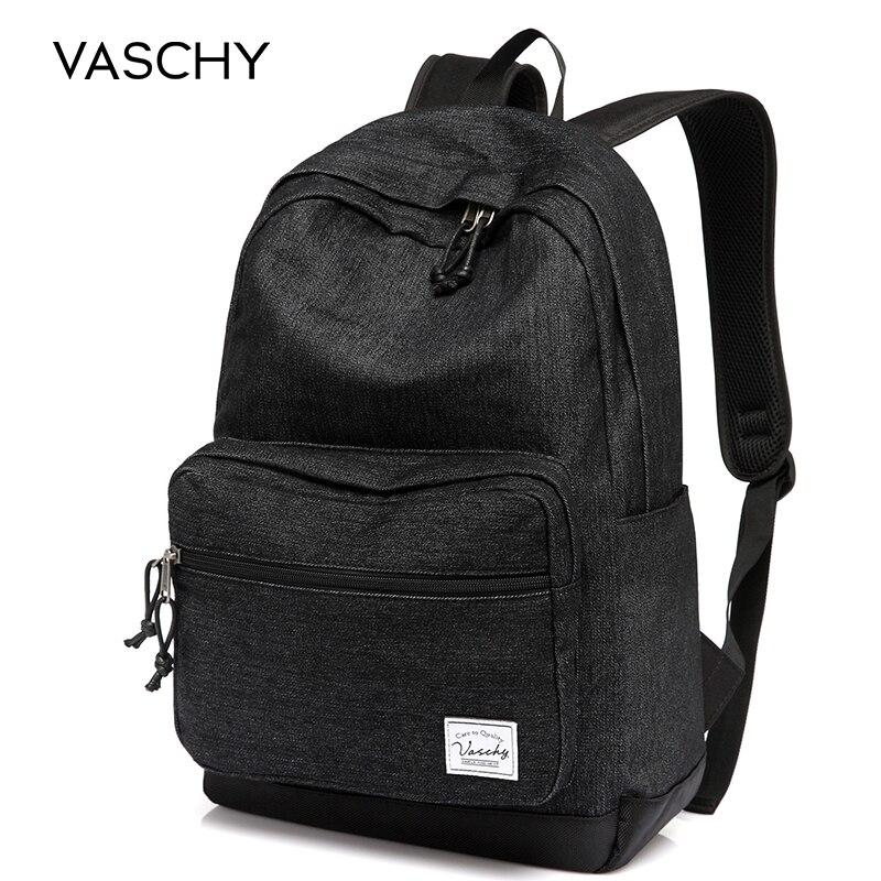 VASCHY Lightweight Denim 15 Inch Laptop Notebook Backpacks Women Travel School Rucksack Mochila bookbag for manVASCHY Lightweight Denim 15 Inch Laptop Notebook Backpacks Women Travel School Rucksack Mochila bookbag for man