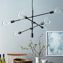 Черный/золотой нордический Лофт художественный стиль столовая подвесной светильник постмодерн дизайнер гостиная, Ресторан украшение светильники
