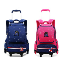 5 Colors School Bag School Backpack For Girls Boy With Wheels Trolley School Bags Wheel Kid