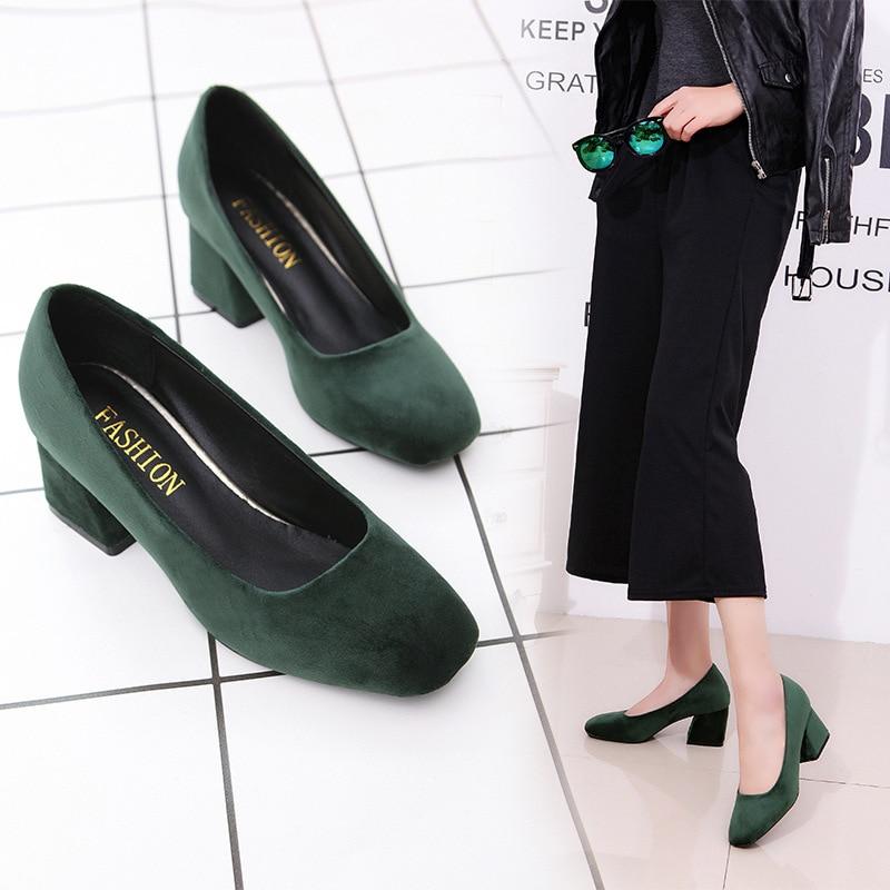 Zapatos Zapato Negro Trabajo Cómodo Mujer Fiesta verde De Boca Ocio 2019 Baja rojo Moda gris Solos 7w8Iyqxg