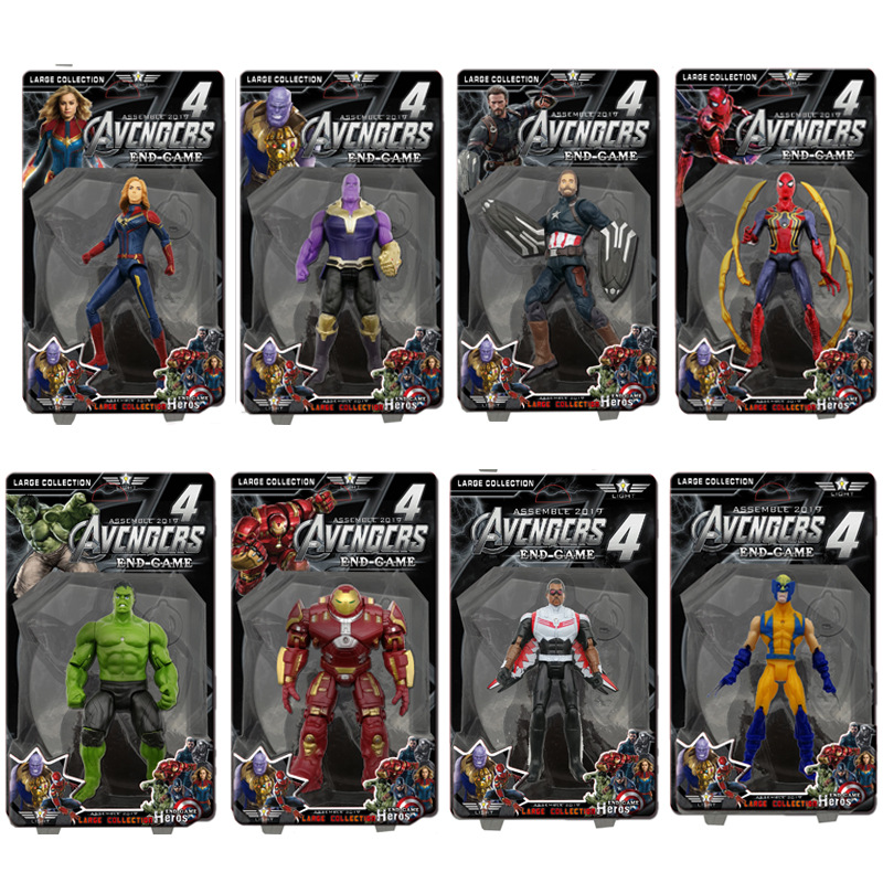 20cm Avengers Infinity War Toys Marvel Iron Man Thor Doctor Strange Hulk Figurine PVC Figures Anime Collectible Model Toys