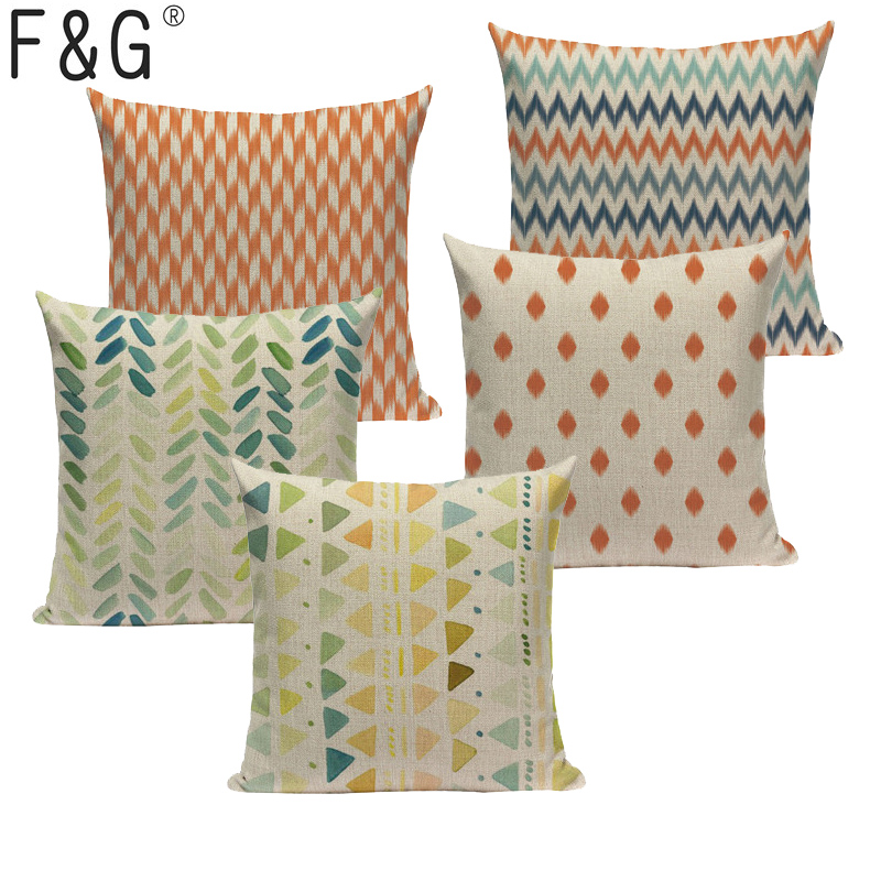 Colorful Nordic Geometry Throw Pillow Gaming Chair Girls Car Beds