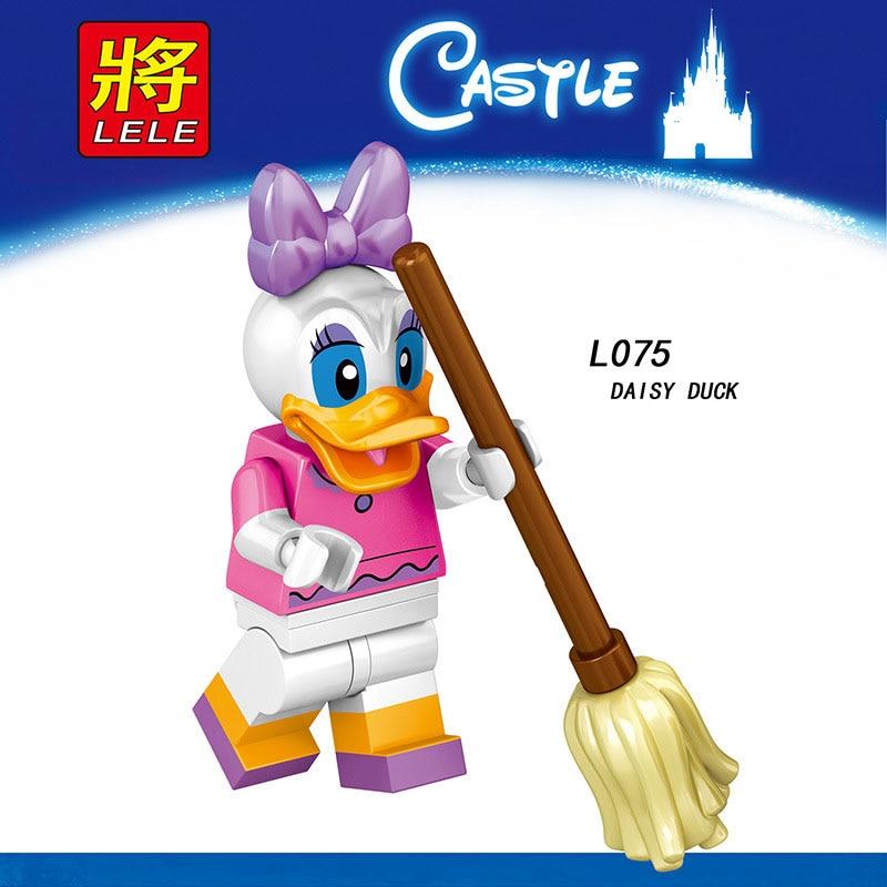 Single Sale LegoINGlys Anime Cartoon DAISY DUCK TINKER BELL MINNIE MICKEY MOUSE Princess Story  Bricks Building Block Toy Gifts