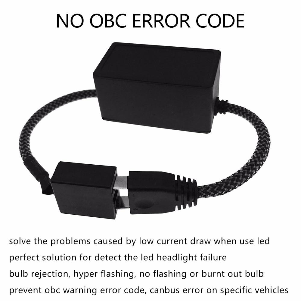 LED H7 Headlight Canbus Error Free Decoder for H7 LED Bulb for bmw  e46/e36/e60 for Audi A3 for Mondeo mk3 Car Light Accessories