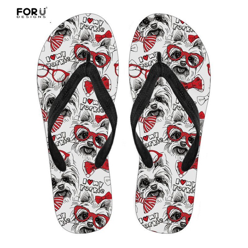 Women's Shoes Forudesigns Slippers Women Novelty Printing Chicken Flip Flops Female Anti-slip Comfortable Flats Flipflops Summer Beach Shoes Making Things Convenient For Customers