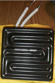 80*80mm 450W Infrared Top Upper Ceramic Heating Plate For BGA reballing Station IR6000 IR6500 220v 210x100mm white ir infrared curved ceramic heater plate air heating board pad for bga station mould metal clip ptc heater