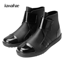 Size 39-45 PVC 2017 Autumn Winter Men Boots Fashion Waterproof Rain Boots Brand Boots Rubber Shoes Kawaihae 603