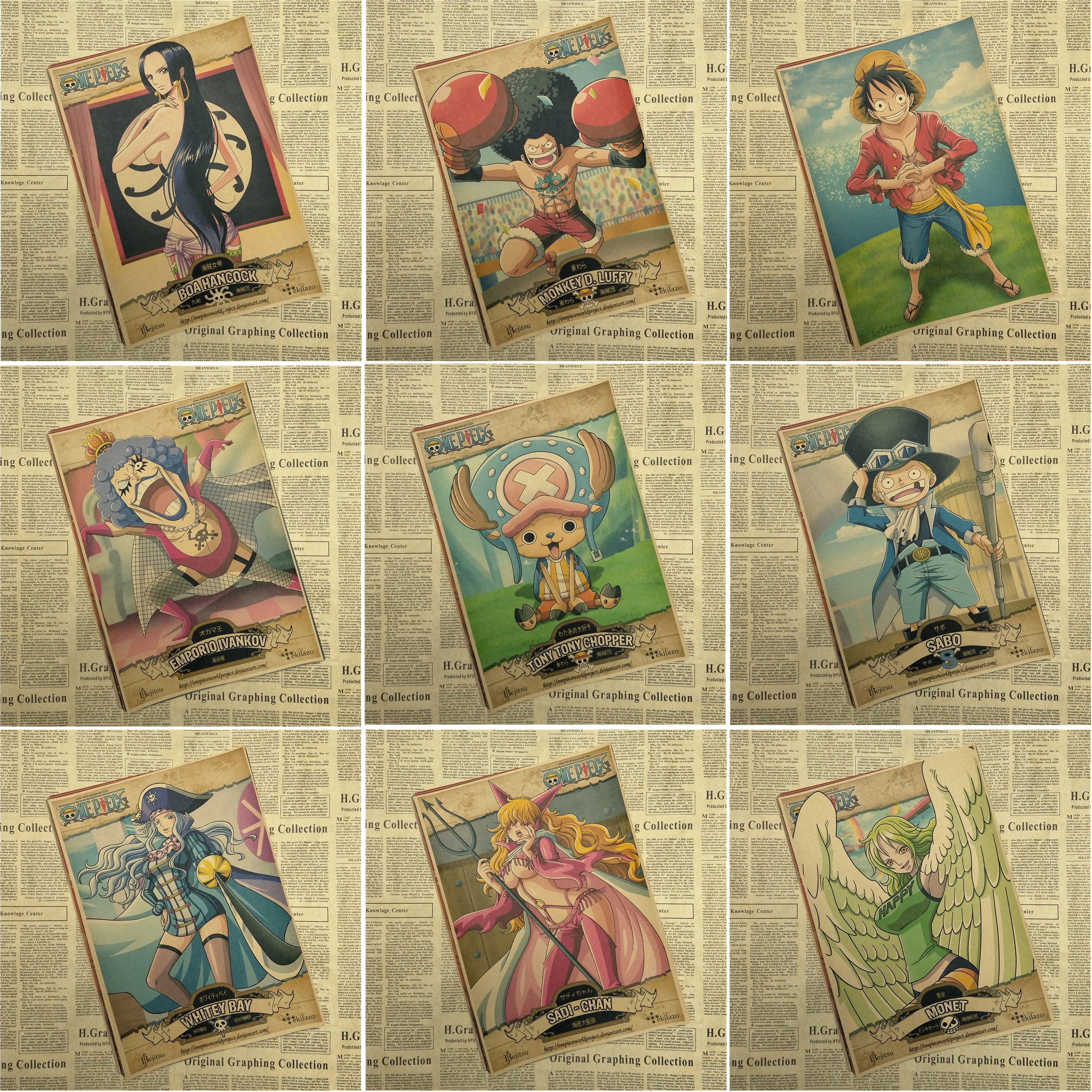 classic animation kraft paper posters Bar decoration painting