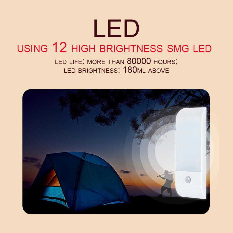 12 LEDs Intelligent Light-Controlled Infrared Sensing Lamp Rechargeable Night Lights Wardrobe Cabinets Lamp ALI88