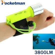 3800 Lumens LED Diving Flashlight Lantern CREE XM-L T6 Waterproof Underwater Scuba Flashlight Torch Light Lamp Diver ZK62
