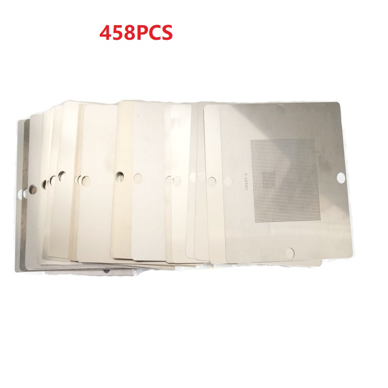 2019 Complete Set 458pcs 80x80mm BGA Stencils Templates 80*80mm  BGA Reballing Station Kit FOR Notebook Laptop XBOX PS3