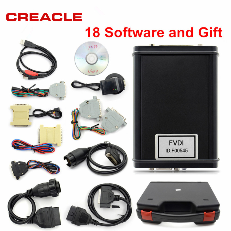 2018 New Original FVDI 2014 ABRITES Commander Diagnostic Scanner Odometer Correction Key Programmer Unlimited With 18 Software 2017 fvdi2 abrites commander for honda hds v3 016 with free j2534 drewtech software