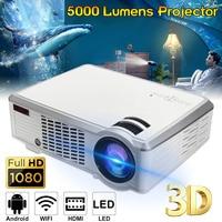 7000 Lumens 1080P Full HD Wireless Projector 3D LED Home Theater Cinema Multimedia Beamer HDMI USB