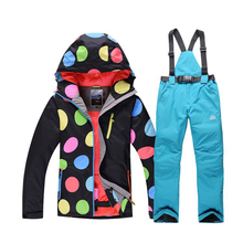 HOT!Skiing Suit Women SNOW Pants And Jackets Winter Waterproof Sport Snow Jacket pants girl Snowboard good quality Free Shipping