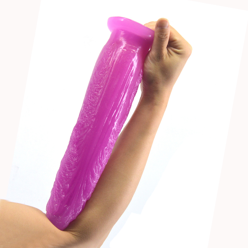 Super long Vegetable Dildo Emerald purple cabbage shape anal plug for woman insert vagina Masturbation Massage clitoris sex toy in Dildos from Beauty Health