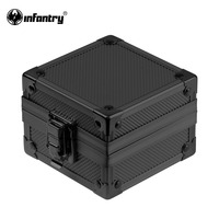 INFANTRY Fashion Rock Style Upgrade Black Aluminum Gift Box Show Cases Watches Display Watch Holder Organizer Bracelet Boxes