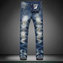 Show thin Small straight canister man s jeans Casual pants men brand pants straight trousers new