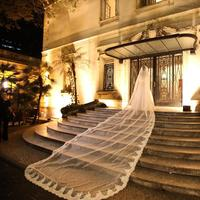 5M Luxury 1T Cathedral Wedding Veil Lace Edge Long White Ivory Veil with Comb
