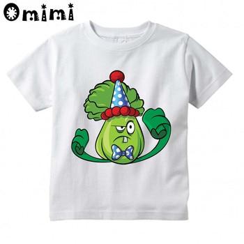 Kids Plants vs Zombies GW Garden Warfare Printed Design Tops Boys/Girls Game Casual T Shirt Children T-Shirt, ooo3037 цена 2017
