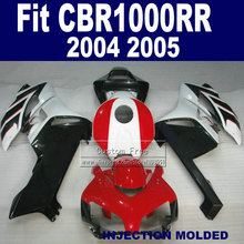 Custom100% Injection ABS fairing kits for 2004 2005 Honda CBR1000RR CBR 1000 RR 04 05 CBR 1000RR red black fairings  kit
