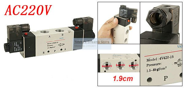 Free Shipping High Quality 4V420-15 PT 1/2 Output Pneumatic Solenoid Valve Air AC 220V 4v420 15 fsqd solenoid valve ordinary type electromagnetic valve pneumatic component air tools