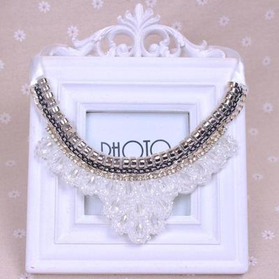 Retro fake collar shirt short necklace black collar button lace decorated Choker Necklace Gift design ribbon chain false collar