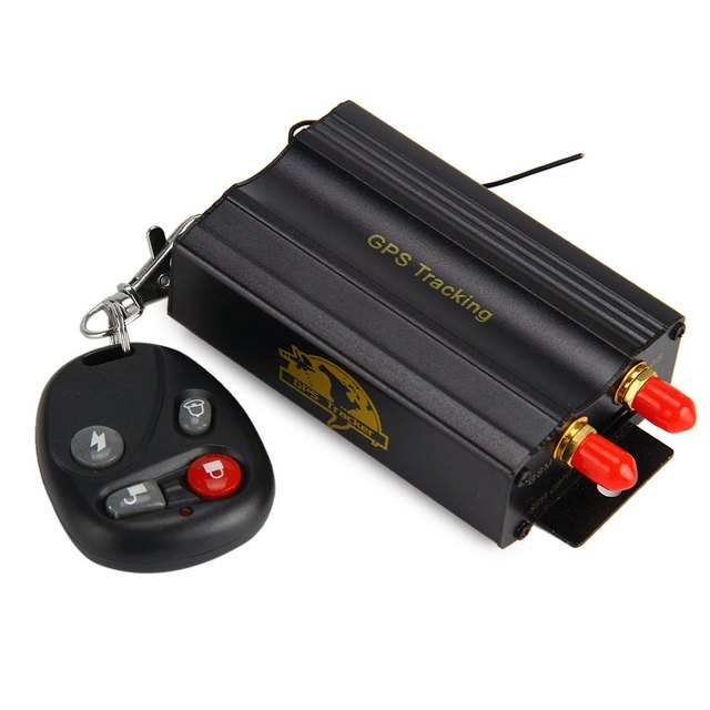 TK103B Car GPS Tracker Network SMS GPRS Vehicle Tracker Locator with SIM SD Card Anti-theft Date Logging On Internet