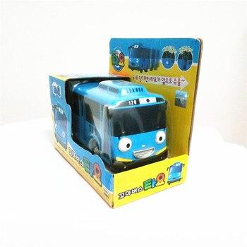 Caliente modelo a escala 138 oyuncak coche niños miniatura bus tayo mini de plástico de juguete del bebé poco tayo rani rogi gani autobús regalo de Navidad