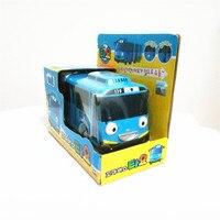 Quente 1:38 escala modelo oyuncak crianças em miniatura do carro tayo ônibus mini brinquedo do bebê de plástico pouco tayo rani rogi gani ônibus presente de Natal