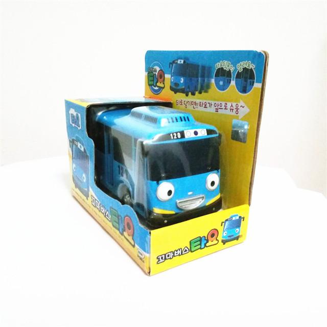 Venta caliente escala 1:38 modelo de coche tayo niños bebés toys pequeño tayo bus tayo bus mini de plástico en miniatura de regalo de navidad